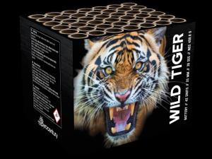 Pyrocentury Wild Tiger Feuerwerksbatterie mit 42 Schuss